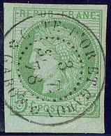 Gabon. No 17 Bdf (pli D'angle) Obl Cad Côte D'Or Et Gabon-Gabon De Sept 78, Superbe - Gabon (1886-1936)