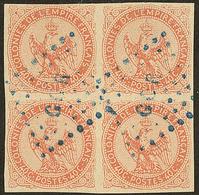 """Gorée. No 5, Bloc De Quatre Obl Losange """"GOR"""" Bleu. - TB - Senegal (1887-1944)"""
