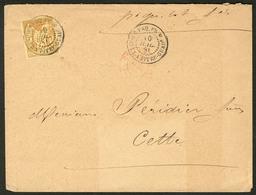 Lettre Guadeloupe. No 44, Obl Cad Pointe à Pitre Juil 81 Sur Enveloppe Pour La France. - TB - Guadeloupe (1884-1947)