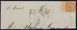 Inde. No 3, Bdf + Un Voisin, Obl Losange 81 Pts Sur Fragment De Lettre De Janv 64, Touché à Droite Sinon TB - India (1892-1954)