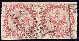 Inde. No 6, Paire Obl Losange Muet 81 Pts. - TB (cote Maury) - India (1892-1954)