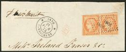 """Inde. No 13, Obl Losange """"INDE"""" Sur Fragment De Lettre Avec Cad Pondichéry Fév 74. - TB (cote Maury) - India (1892-1954)"""