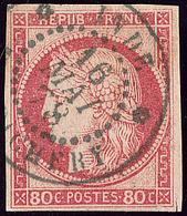 Inde. No 21, Obl Cad Bleu Pondichéry Mai 78. - TB (cote Maury) - India (1892-1954)