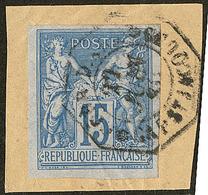 "Indochine. No 41, Obl Cad Octog. ""Cap St Jacques Corr. D'armées"" De Juin 80, Sur Petit Fragment. - TB - Indochina (1889-1945)"