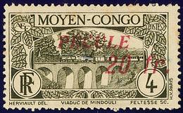 """FISCAUX. Congo. No 115, Surchargé """"PECULE/20fr"""" En Rouge. - TB - Fiscaux"""