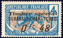 """* FISCAUX. Oubangui. No 3, Surch. """"Timbre Spécial/0fr 48"""", Gomme Coloniale. - TB - Fiscaux"""