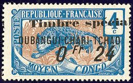 """* FISCAUX. Oubangui. No 3, Surch. """"Timbre Spécial/0fr 24"""", Gomme Coloniale. - TB - Fiscaux"""
