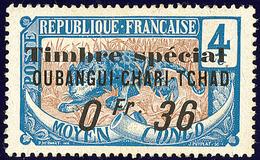 """* FISCAUX. Oubangui. No 3, Surch. """"Timbre Spécial/0fr 36"""", Gomme Coloniale. - TB - Fiscaux"""