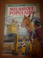1951 MÉCANIQUE POPULAIRE:Faire De La Poterie; Ecole De Toréadors; Fritz Abplanalp Grand Artiste Suisse à Hawaï; Etc - Wissenschaft & Technik