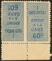 """** Colis Postaux. Erreur, Sans Surcharge """"Contrôle Répartiteur"""". No 7Ac, Paire Tête-bêche Bdf (un Ex *), Très Frais. - T - Algérie (1924-1962)"""