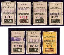 ** Colis Postaux. Nos 77, 77a à 82, (Maury 89, 90, 90A à 94). - TB (cote Maury) - Algérie (1924-1962)