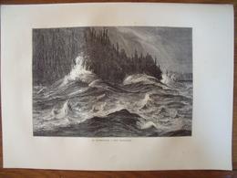 Canada, Les Chutes Du Niagara, Le Tourbillon  Gravure    1880 - Vieux Papiers