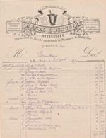 Facture Illustrée 31/12/1891 Abel BOSSUGE Pharmacie ST SULPICE Tarn - Déchirure à Droite - 1800 – 1899