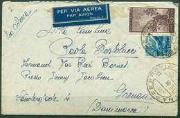 V9818 ITALIA REPUBBLICA 1948 Aerogramma Affrancato Con Democratica 50 L. + 15 L., Da Modena 13.9.48 Per La Danimarca, - 6. 1946-.. Repubblica