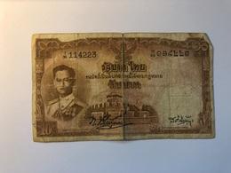 Billet Thailande 10 Bath 1948 - Thaïlande