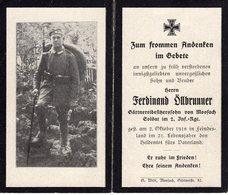 Ardennes. 1918. VOUZIERS. Sterbebild Avis Décès Soldat Allemand - 1914-18