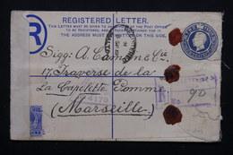 MALTE - Entier Postal + Complément En Recommandé De Malte Pour La France En 1919 Avec Contrôle Postal - L 20878 - Malte