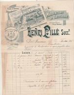 Facture Illustrée 9/4/1898 Henri PILLE Brosserie LAVAUR Tarn Pour Fontas Toulouse - 1800 – 1899