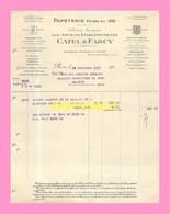 FACTURE  De CATEL Et FARCY  à PARIS  1927 - France