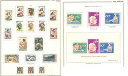 * POLYNESIE. Collection. 1958-1970 (Poste, PA, BF, Taxe), Valeurs Moyennes Et Séries Complètes, Nombreux Ex Collés. - TB - French Polynesia