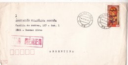 ENVELOPPE CIRCULEE RIO GRANDE,RS A BUENOS AIRES 1984. BRASIL - BLEUP - Brazil
