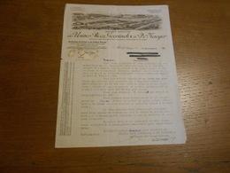 Ancienne Lettre Usines Roos Geerinncks & De Taeyer Alost 1925 Filature Coton Et Carde Fileuse Textile - Textile & Vestimentaire
