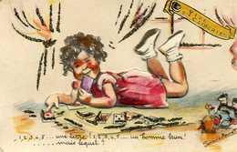 1 2 3 4 5 ...une Lettre Un Homme Brun Germaine Bouret Découpis - Bouret, Germaine