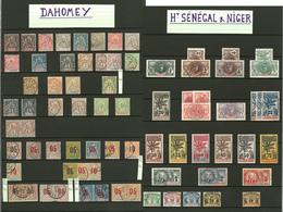 Colonies D'Afrique. 1892-1944, AOF, Dahomey, Tchad, Soudan, Etc., Valeurs Moyennes Et Obl. - TB - Frankreich (alte Kolonien Und Herrschaften)