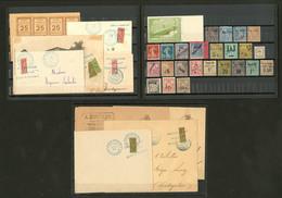 * 1892-1910, Valeurs Diverses * Ou Obl, Dont Huit Coupés De Madagascar Sur Diverses Enveloppes. - TB - Frankreich (alte Kolonien Und Herrschaften)