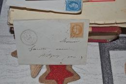 LETTE AVEC TIMBRE 28B NIII 10C BISTRE CAD A CERCLE POINTILLÉ  LA MEYZE 6 SEPT 70  CAD ST YRIEIX 6 SEPT 70  LOS GR CHIF - 1863-1870 Napoléon III. Laure