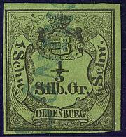 Oldenburg. No 1, Tangent En Bas Mais Filet Intact. - TB - Oldenbourg