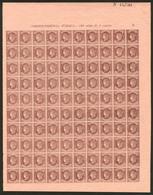 ** ESPAGNE. No 54, Feuille De 100 Ex N°44,780. - TB - Spain