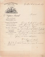 Lettre Facture Illustrée 2/12/1897 VIGUIER SICARD Quincaillerie Ferronnerie Bascules GRAULHET Tarn - 1800 – 1899