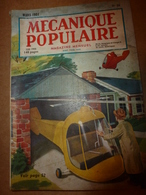 1951 MÉCANIQUE POPULAIRE:Des Arbres Neufs Avec Vieux;J'ai 1 Million De Grenouilles;Gravure Sur Pierre;Travail-bambou;etc - Sciences & Technique