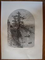 Le Lac Erié  Gravure    1880 - Old Paper