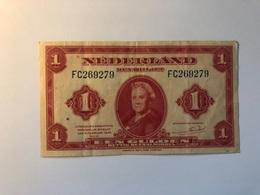 Billet Pays Bas 1 Gulden 1943 - [2] 1815-… : Koninkrijk Der Verenigde Nederlanden