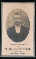 PETRUS VAN DE VELDE      KALKEN   1873     1920   2 AFBEELDINGEN - Décès