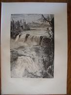 Trenton Falls, New York.  Gravure    1880 - Vieux Papiers