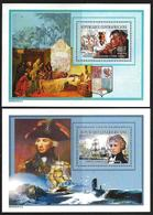 Central African Republic 2003 MNH 2 Sheets Columbus, Amiral Nelson - Central African Republic