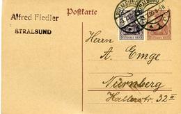 (Lo2972) Ganzs. DR. St. Stralsund N. Nürnberg - Deutschland