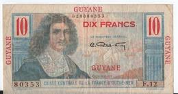 C52) Guyane Billet 5 Francs Colbert - Guyana Francese