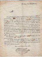 VP14.217 - BORDEAUX 1817 - Lettre Commerciale De Mr CARRE SIAYS - Marchandise Eaux - De - Vie - 1800 – 1899