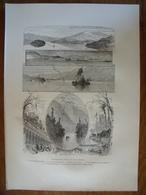 Le Lac George, New York.  Gravure    1880 - Vieux Papiers