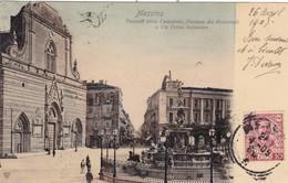 ITALIE. MESSINA. CPA. FACCIATA DELLA CATTEDRALE.  ANNEE 1905 - Messina