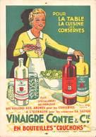 17- ROYAN Publicité Vinaigre Conté & Cie Au Verso BAC MARIN De Royan à Pointe-de-Grave Horaire Juillet 1939 - Publicités