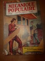 1951 MÉCANIQUE POPULAIRE:Faire Sa Maison; Construction D'une Maison En Contre-plaqué;Faire Durer Le Gouttières ;etc - Ciencia & Tecnología