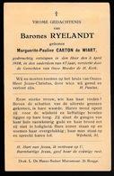 ADEL NOBLESSE  BARONES MARGUERITE CARTON DE WIART - OVERLEDEN 1939  67 JAAR OUD - Décès