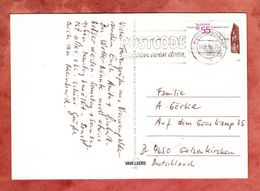 AK Vrouwenpolder, EF Europa Postkantor Veere, MS Postcode Roosendaal, Nach Gelsenkirchen 1990 (68716) - Storia Postale