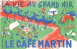 Buvards  Café LE CAFE MARTIN LA VIE AU GRAND AIR DOS PUB UNE LUXUEUSE MENAGERE 37 OIECES D'OFRFEVRERIE VOIR IMAGES - Coffee & Tea
