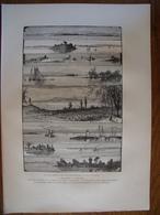 Le Lac Champlain, De Plattsburg à Saint-Albans.  Gravure    1880 - Vieux Papiers